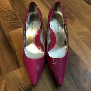Rampage Shoes - Rampage Patent Leather Pumps, Fuschia, Size 9
